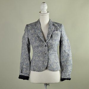Calvin Klein Blue Cotton Tweed Blazer